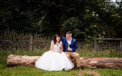 Colourful wedding at Charisworth Farm | Claudia & Jamie