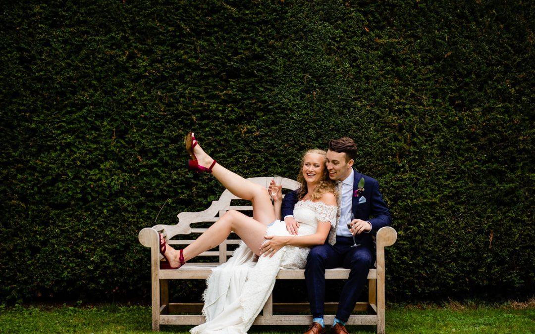 Garden wedding at Dean's Court in Wimborne   Jack & Rachel