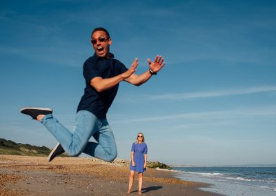 Pre wedding photography session Highcliffe Beach-16