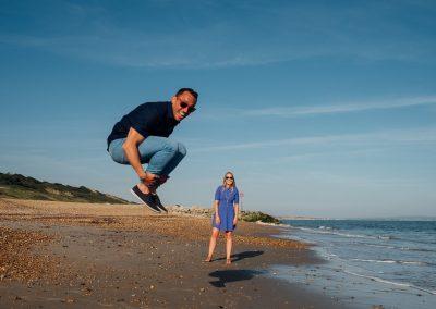 Pre wedding photography session Highcliffe Beach-23