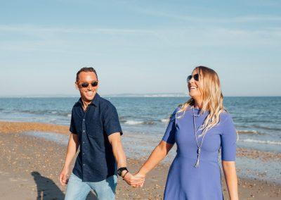 Pre wedding photography session Highcliffe Beach-24