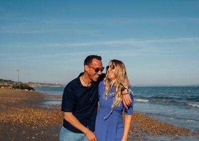 Pre wedding photography session Highcliffe Beach-26
