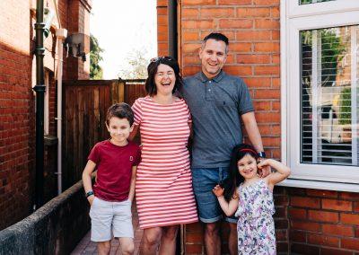 Bethell Family Doorstep Photo