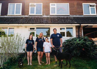 Langdown Family doorstep portrait