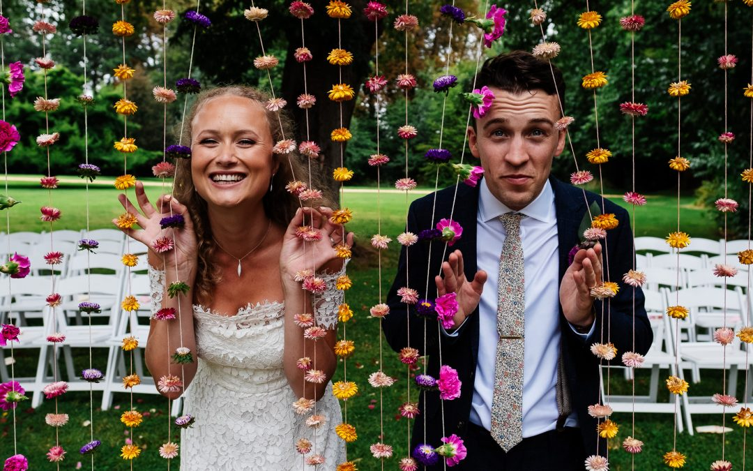 Relaxed and fun bride and groom photos
